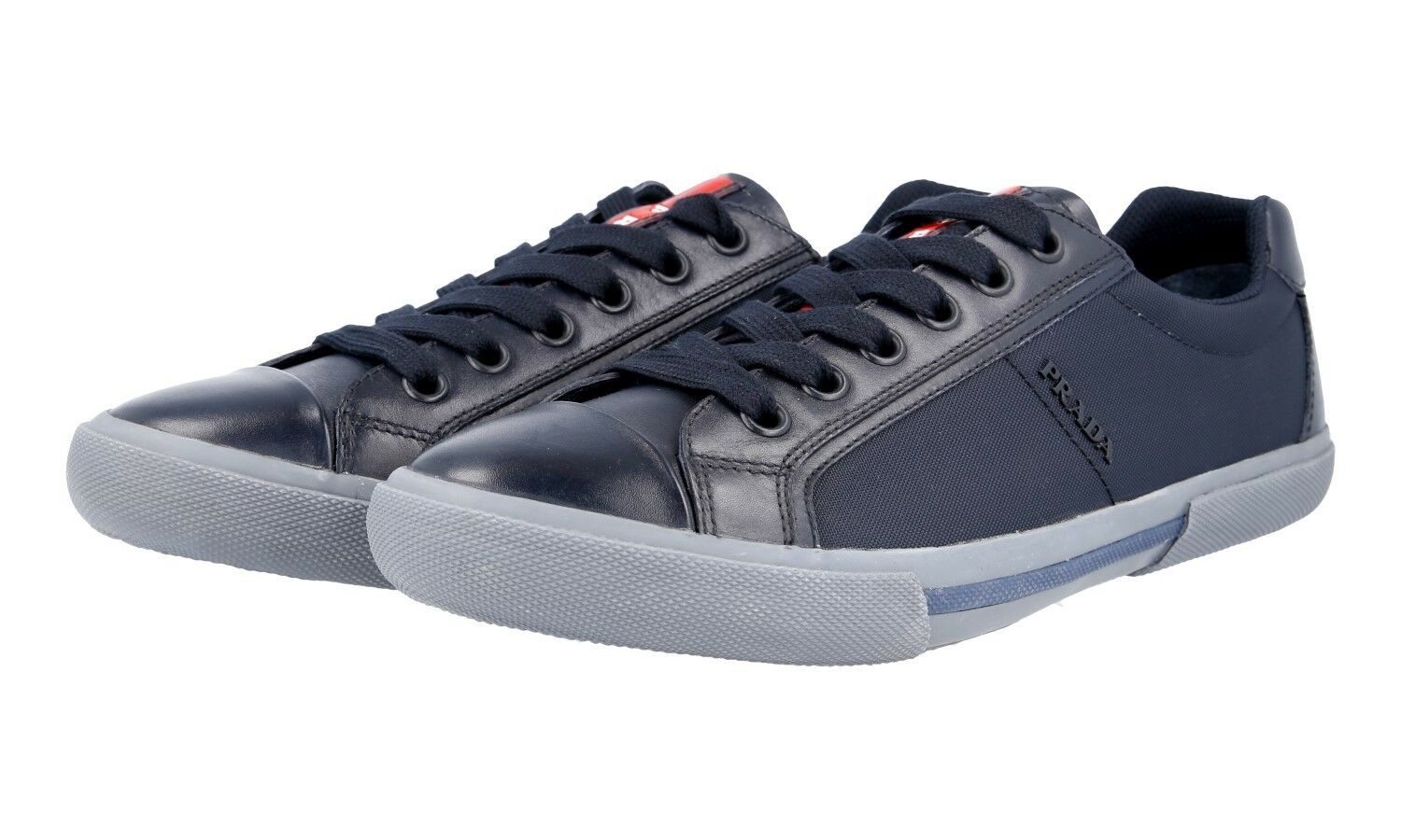 AUTHENTIC LUXURY PRADA SNEAKERS SHOES 4E3028 blueE NEW 8 42 42,5