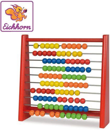 Eichhorn 100003405 Multicolor Clásico Abaco Madera para NiñosDiversión Educativo