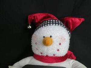 CHRISTMAS DAY WILL SOON BE HERE COUNTDOWN CHALKBOARD SNOWMAN JINGLE BELL PLUSH | eBay