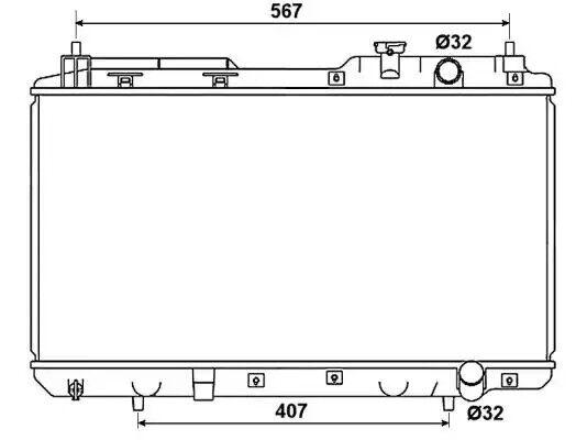 Radiatore, Raffreddamento Del Motore NRF 53506