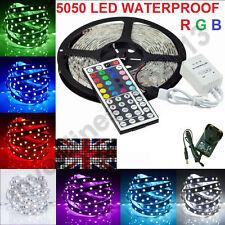 5050/3528 Multi RGB 5M/10M SMD 12V LED Strip Light Adapter IR Remote Waterproof