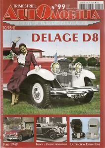 AUTOMOBILIA-99-TALBOT-1890-1960-DELAGE-D8-AUTOBIANCHI-PRIMULA-FORD-1949-TRACTION