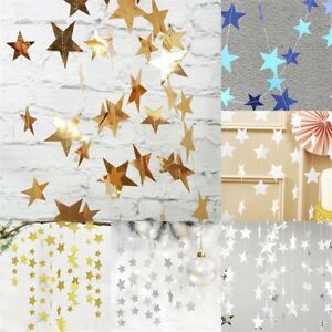 Stars Hanging Paper Garlands Party Wedding Birthday Baby Showe Table