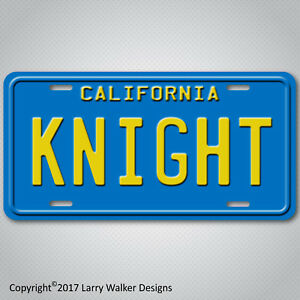 Knight-Rider-82-Trans-Am-KITT-Replica-Prop-Aluminum-License-Plate-Tag