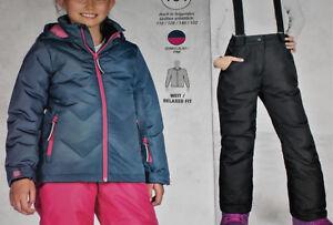 Veröffentlichungsdatum Gute Preise neueste Kollektion Details zu 2tlg. Mädchen SKIANZUG Snowboardanzug Jacke+Hose Gr.164  blau/schwarz NEU