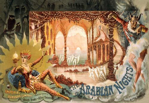 Th55 Vintage Arabian Nights Cartel De Teatro A1 A2 A3