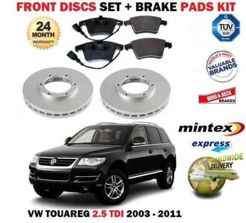 FOR VW TOUAREG 2.5 TDi 5//2003-2011 NEW FRONT BRAKE DISCS SET /& DISC PAD KIT