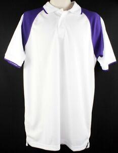 Blaireau Sport Blanc Avec Violet Maillot Pour Hommes M T-shirt Football 100%