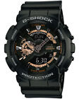 Casio GA110RG-1 Men's Ana-Digi Rose Gold Accent Alarm Chrono Black G Shock Watch