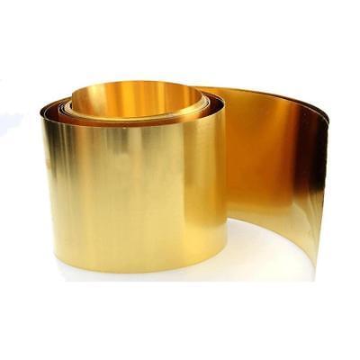 US Stock 0.4 x 100 x 200mm C17200 Beryllium Bronze Thin Sheet Foil Plate