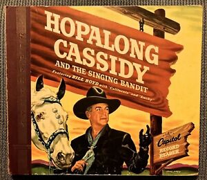 HOPALONG CASSIDY and the SINGING BANDIT  1950 Capitol Record Reader Set CDX-3058
