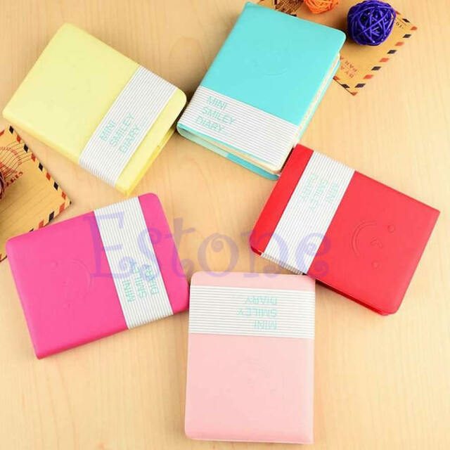 1Pc Memo Charming Mini Smile Cute Diary Notebook Portable Smiley Paper Note Book
