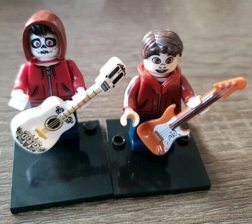 Disney COCO miguel lego figures skeleton face kids toy building block. new 2pcs