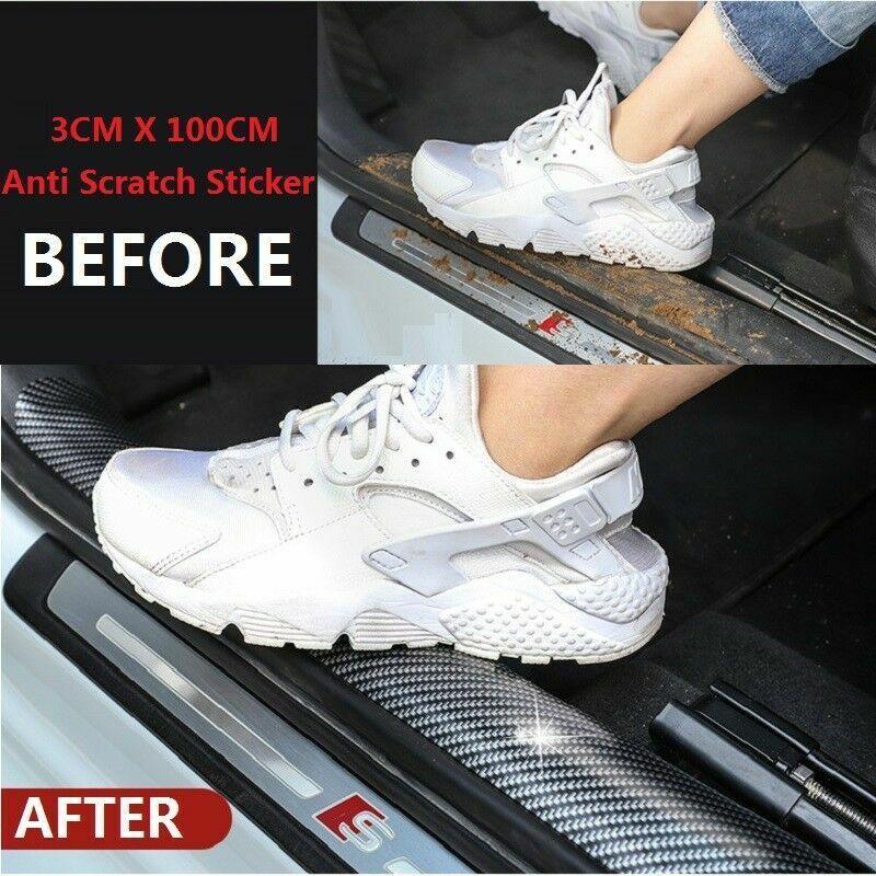 Car Parts - Auto Car Accessories Carbon Fiber Door Plate Cover Anti Scratch Sticker US STOCK