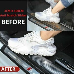 Auto-Car-Accessories-Carbon-Fiber-Door-Plate-Cover-Anti-Scratch-Sticker-US-STOCK