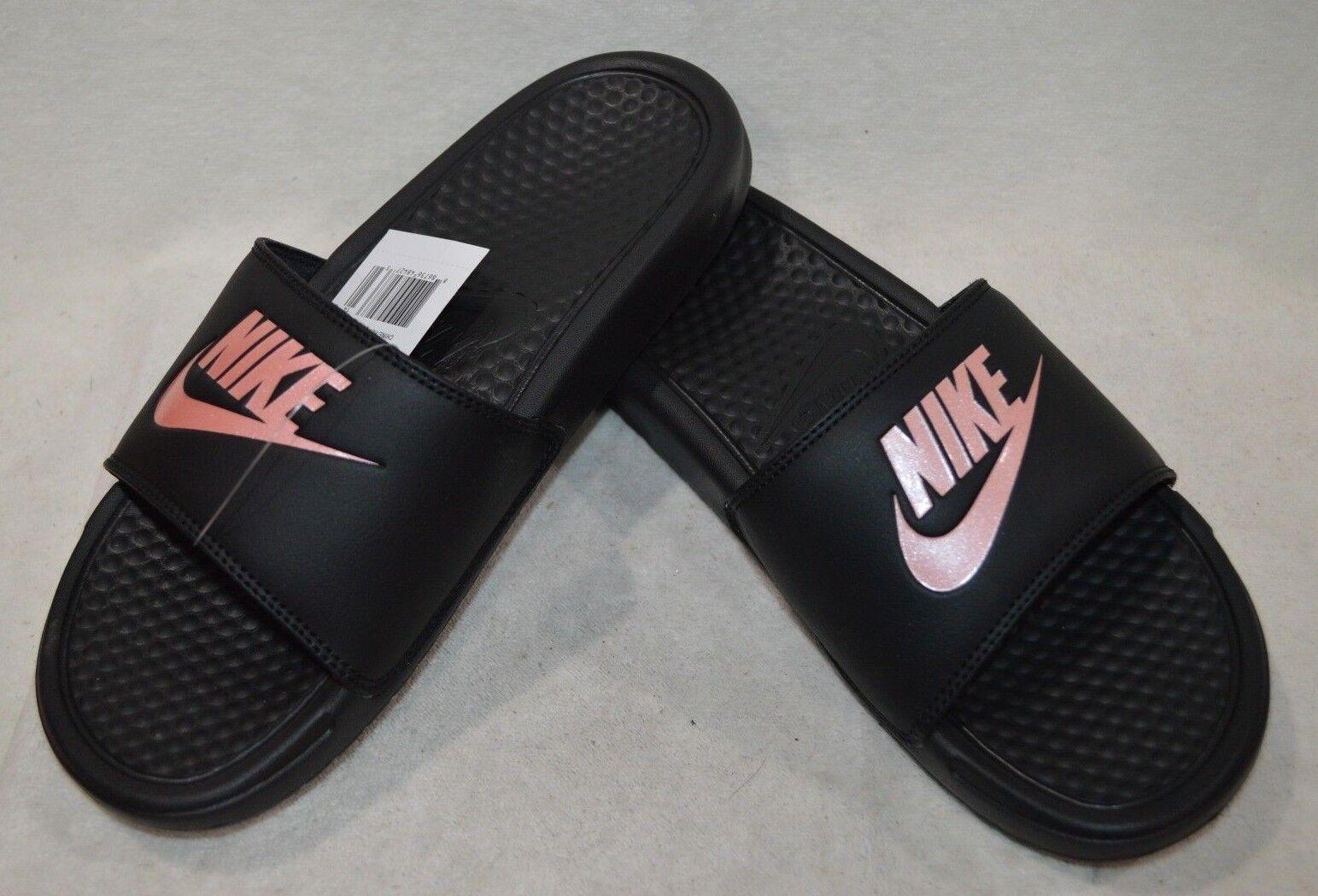 Nike Benassi - JDI Black/Rose Gold Women's Slides Sandals - Benassi Size 6/7/8/9/10/11 NWB 6dd2ba