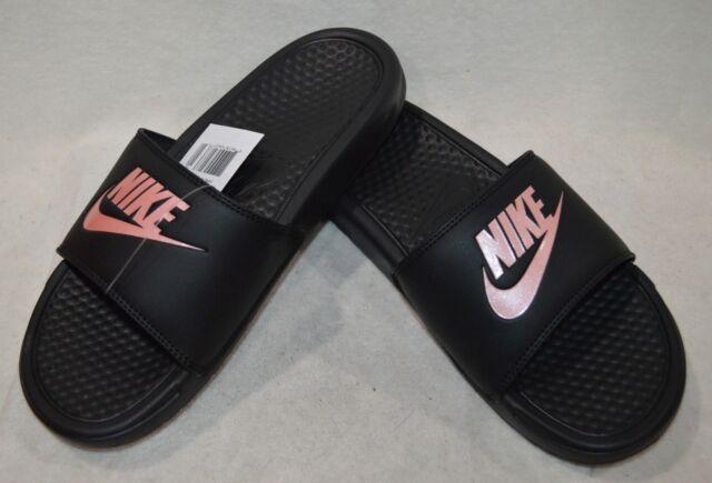 Nike Benassi JDI Rose Gold Black Slides