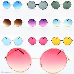 oversized hippie fashion retro large round lennon ladies sunglasses ebay. Black Bedroom Furniture Sets. Home Design Ideas