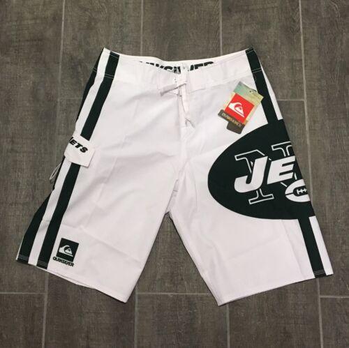 Quiksilver NFL NY Jets White Board Shorts Swim Trunks Men's Size 31