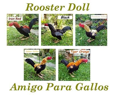 Gallos//Rooster//Chicken Leather Dummy Mona De Cuero
