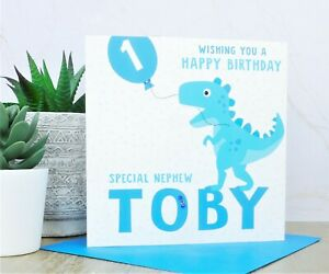 Personalised Dinosaur Boys Age Badge 1st 2nd 3rd 4th 5th 6th 7th 8th 9th 75mm