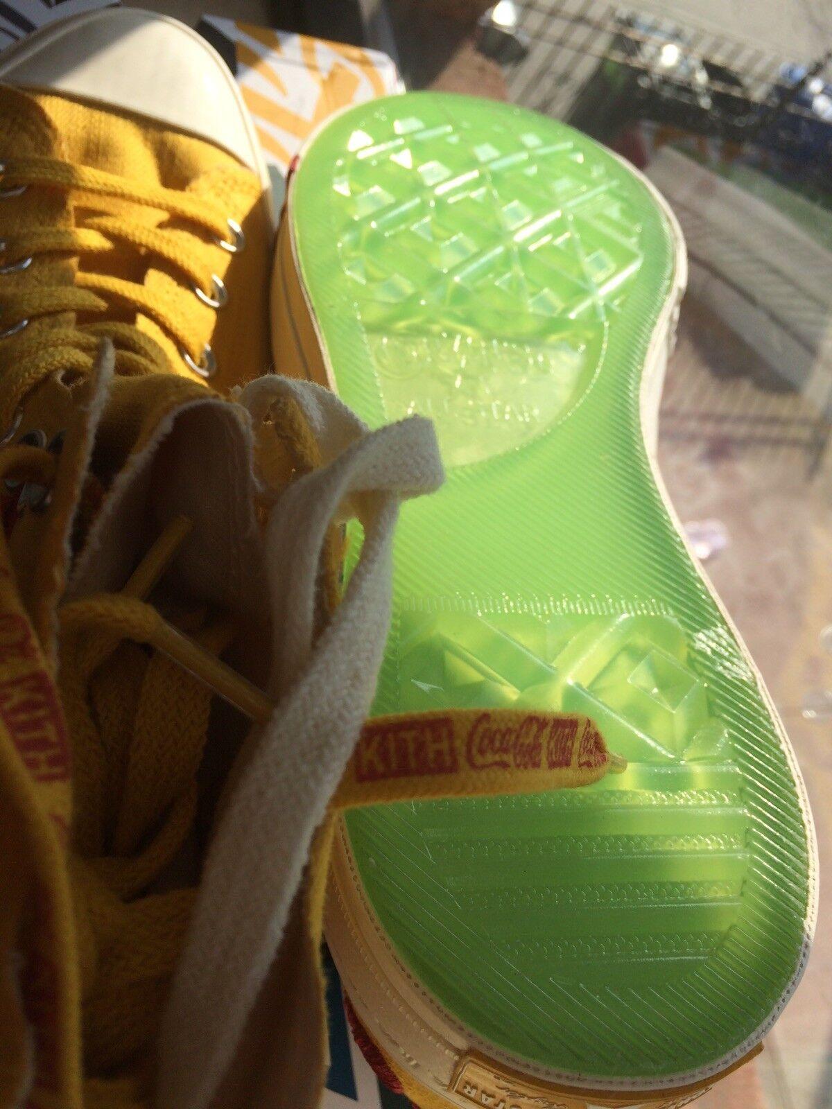 kith cola x coca - cola kith converse chuck taylor 70 chine jaune en main * limité taille 11 * c705c1