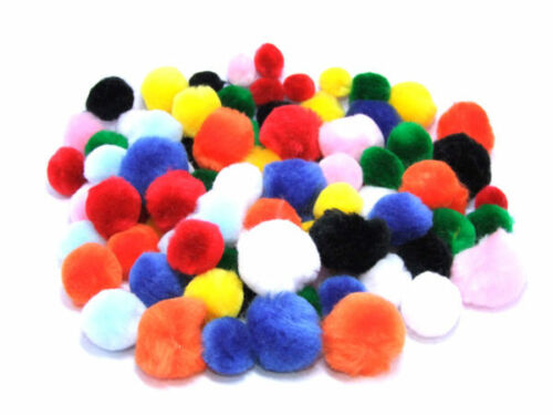 Luxury Assorted Craft Pom Poms25 Pack
