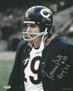 Ronnie-Bull-Chicago-Bears-Autographed-8x10-Photo-With-ROY-62-Inscription