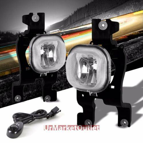 Clear Lens Chrome Housing Fog Light//Lamp For 08-10 F250//350//450//550 SuperDuty