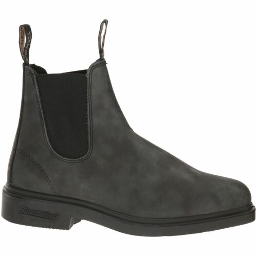 1308 Chelsea Ankle Square Leather Boots Rustic Black toe Unisex Blundstone ZRadqa