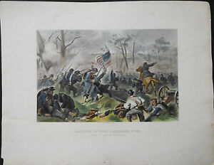 1878-Capture-of-Fort-Donelson-Tenn-Am-Civil-War-Original-Handcolored-Engraving