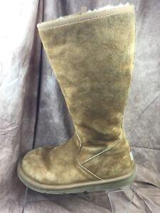 fb693226c02 Details about UGG Australia Uggs Womens SZ 7 Sunset II 5683 Tall Tan Side  Zip Sheepskin Boots