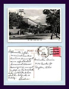 NEWFOUNDLAND-CORNER-BROOK-WEST-ST-REAL-PHOTO-23-NOV-1953-NELLIE-CORWIN-DAYTON