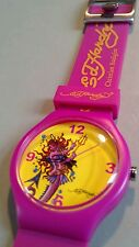 BNWT STUNNING ED HARDY BY CHRISTIAN AUDIGIER SIGNATURE ARTWORK DESIGNER WATCH