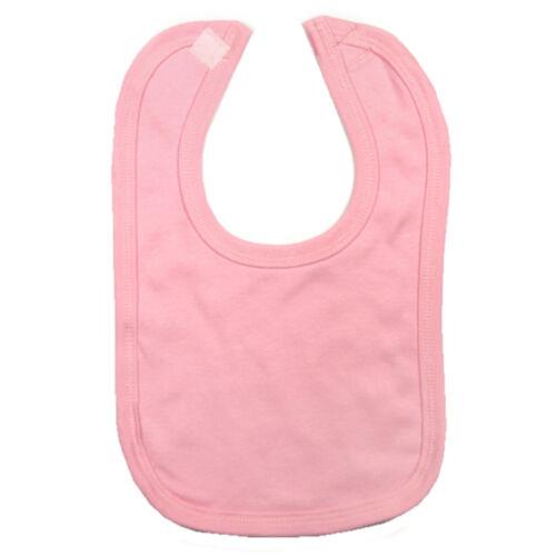 Boy Girl Cotton Dribble Bib Baby Bib Pink Blue White Cream Baby Togs