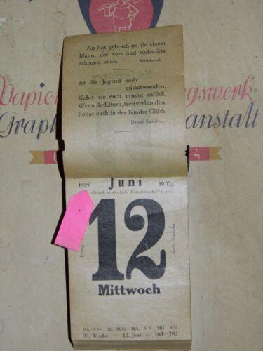 Dezember 1929 Geschenk Collage Taufe 90.Geburtstag original KALENDERBLATT Juni