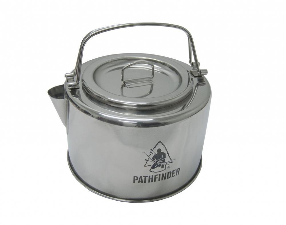 PATHFINDER 1.2L STAINLESS STEEL  CAMP KETTLE & FILTER BUSHCRAFT CAMPING  cheap sale