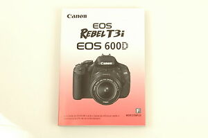 Canon rebel t3i owners manual array canon eos rebel t3i 600d camera instruction manual french manuel rh fandeluxe Gallery