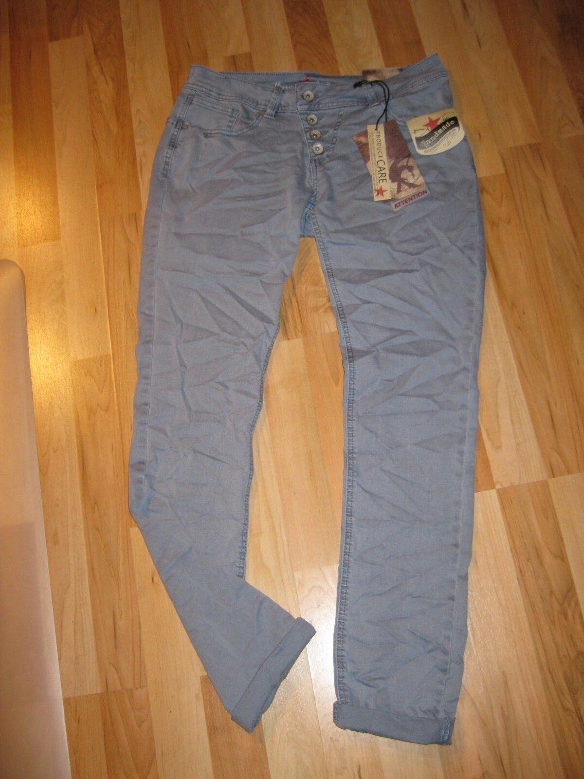 Buena Vista Damenhose Malibu Stretch Twill grauish Blau Größe M NEU