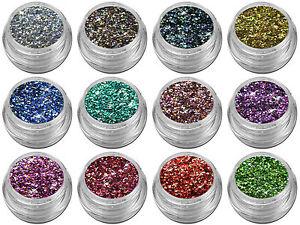 Mix Glitter Spezial Pailletten Flitter Puder Pulver Stern Rhombus Nail Art Nagel