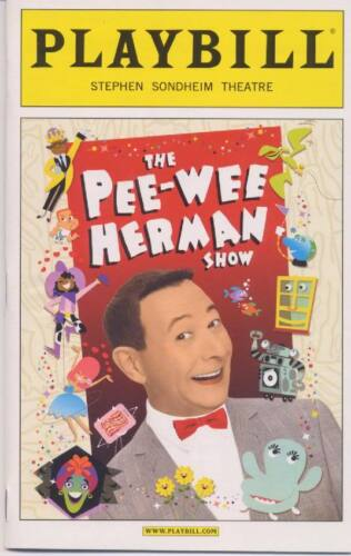 PEE-WEE HERMAN SHOW  ON BROADWAY Playbill OPENING NIGHT MINT