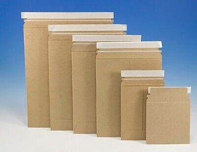 "Original Stayflats Plus Mailers (Kraft) 7"" x 9"" Rigid No Bend Self Seal Envelope"