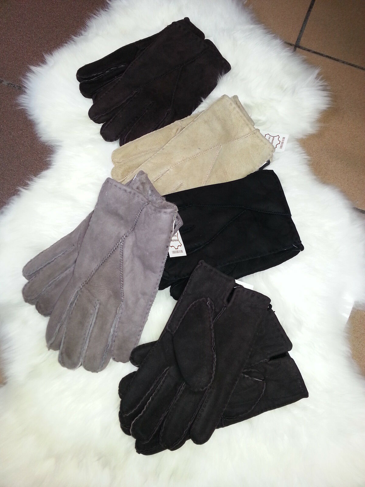 Mens Sheepskin Gloves 100% sheepskin soft colours