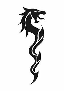 Gothic-Dragon-Tattoo-style-stencil-350-micron-Mylar-not-thin-stuff-TaT008