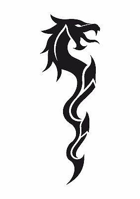 350 micron Mylar not thin stuff  #TaT0013 Hungry  Dragon Tattoo style stencil