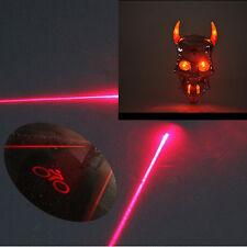 6 LED 3 Laser Cycling Bicycle Bike Rear Tail Warning Flashing Light Skull Design