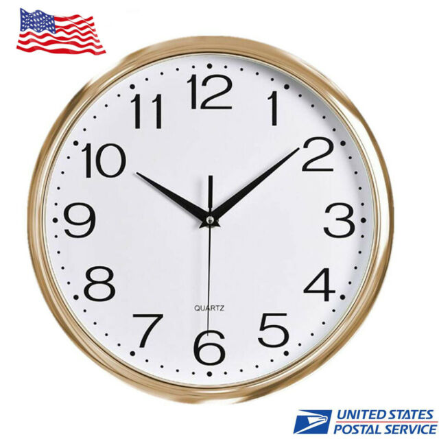 12inch Large Quartz Battery Operated Round Modern Decorative Wall Clock For Home