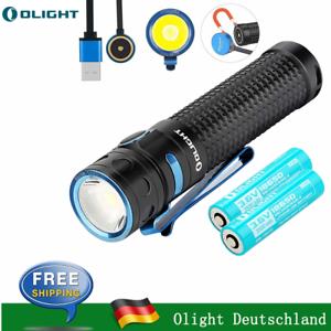 Olight Baton Pro Taschenlampe 2000 Lumen//132 Meter USB Magnet Wiederaufladbare!!