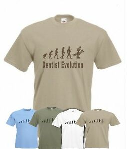 3e36a2c0 Evolution To Dentist t-shirt Funny Dental Surgeon T-shirt sizes Sm ...