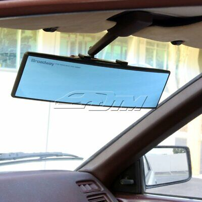 Universal Broadway 300MM Wide Convex Interior Clip On Rear View Blue Tint Mirror